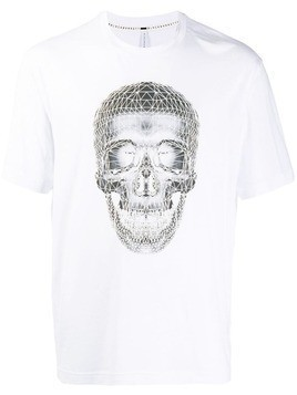 Blackbarrett Wireframe skull T-shirt - White