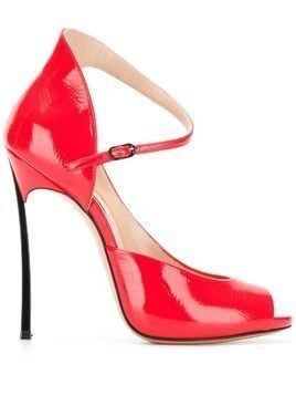 Casadei colour block sandals - Red