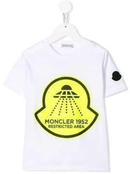 Moncler Kids Restricted Area-print T-shirt - White
