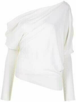 Altuzarra Granger asymmetric knitted top - White