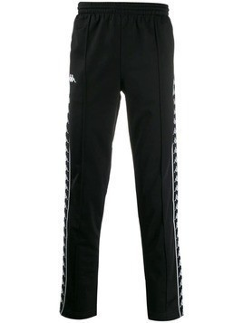 Kappa logo tape track trousers - Black