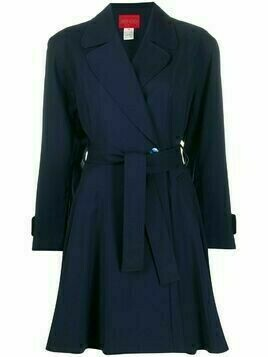 Kenzo Pre-Owned notched lapel coat - Blue