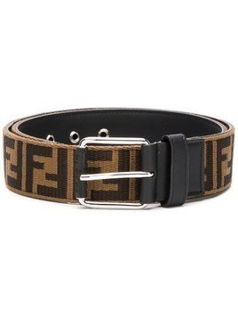 Fendi Double F logo belt - Brown