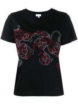 Escada Sport embroidery detail t-shirt - Black