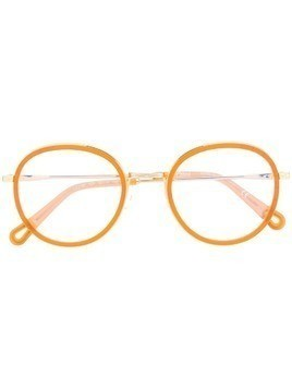 Chloé Eyewear round frame glasses - Orange