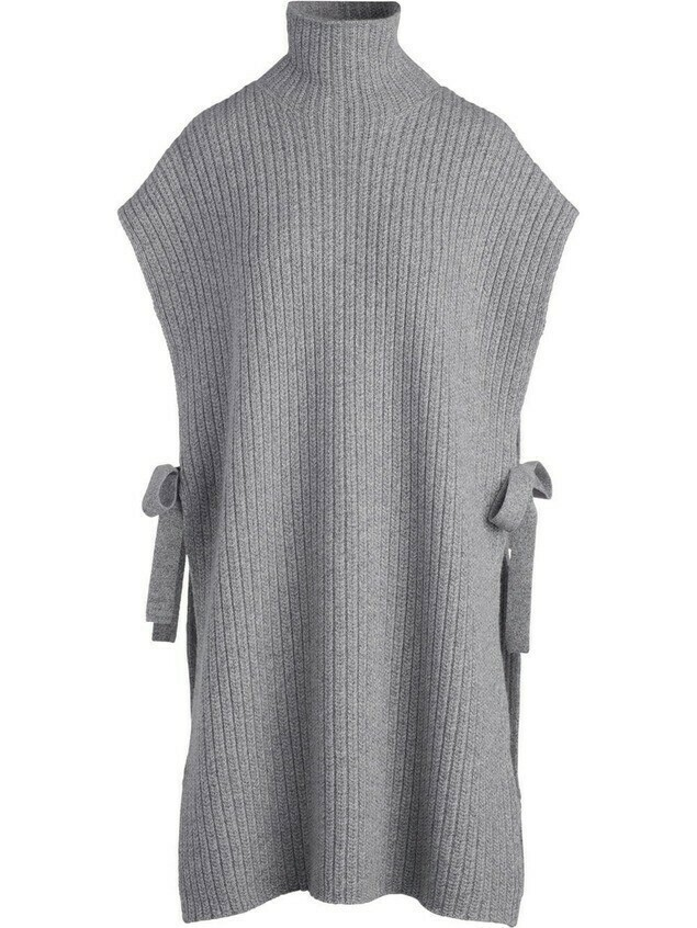 Rosetta Getty bow-embellished knitted midi dress - Grey