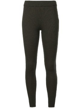 Des Prés ribbed knit leggings - Green