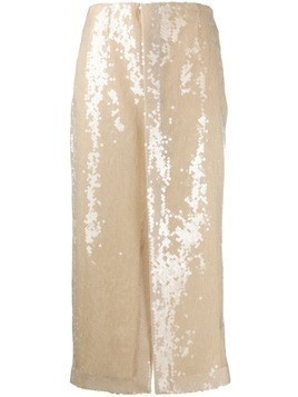 Roland Mouret Nobel sequinned skirt - Neutrals