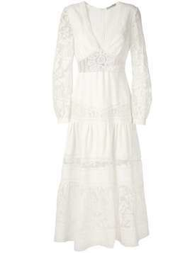 Martha Medeiros Yana midi dress - White