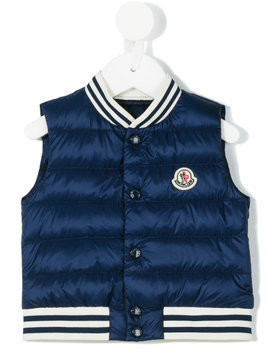 Moncler Kids padded vest - Blue