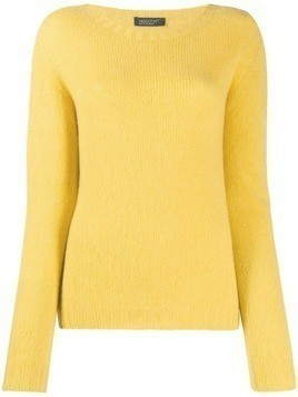 Aragona round-neck knit sweater - Yellow