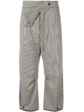 Kiko Kostadinov micro print loose fit trousers - Grey