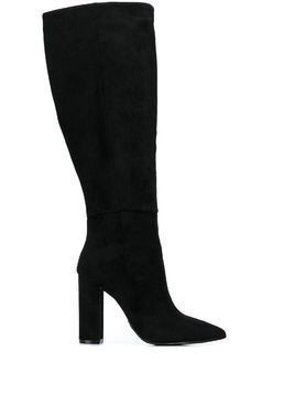 Buffalo pointed knee-length boots - Black