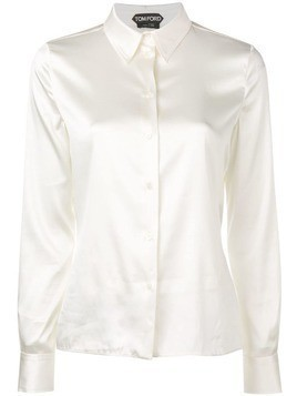 Tom Ford pointed collar shirt - White