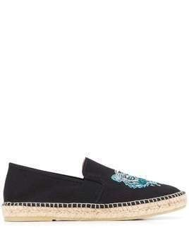 Kenzo Tiger embroidered espadrilles - Black