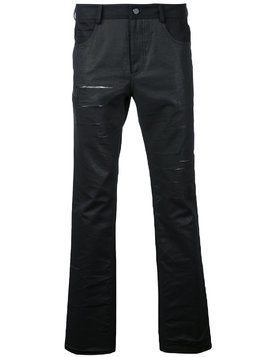General Idea distressed slim-fit jeans - Black