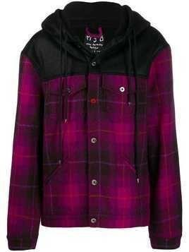 Mjb checked hooded jacket - Black/Purple