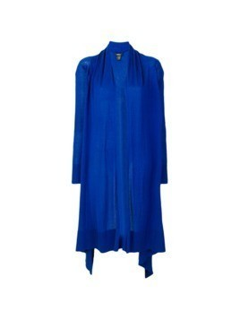 DKNY asymmetric open front cardigan - Blue