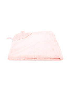 Miki House - animal ears baby blanket - Kinder - Cotton/Polyester - One Size - Pink & Purple