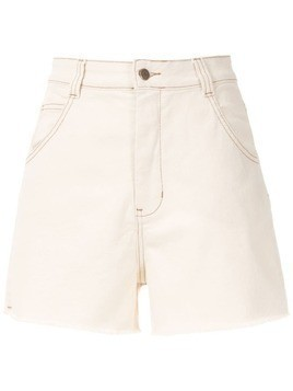 Osklen Cru high waist shorts - White