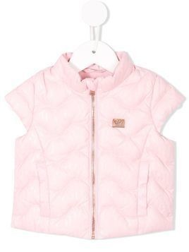 Emporio Armani Kids quilted zip-up vest - Pink & Purple