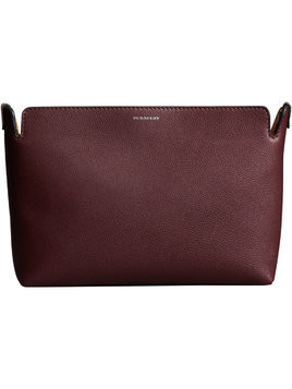 Burberry The Medium Tri-tone Leather Clutch - Pink & Purple