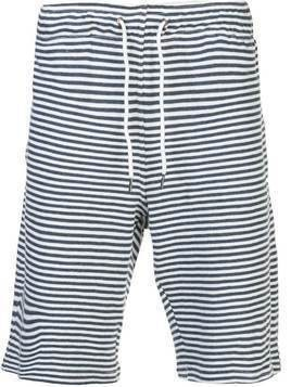 Onia Saul Coco Stripe terry short - Blue