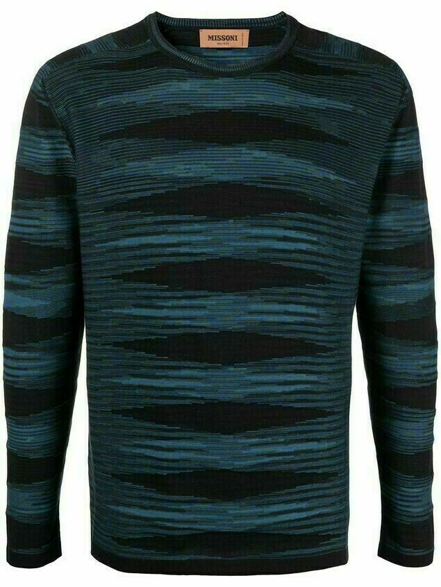 Missoni stripe-print long-sleeved T-shirt - Blue