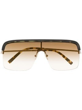 Cutler & Gross aviator shaped sunglasses - Brown