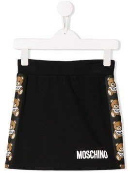 Moschino Kids teddy print skirt - Black