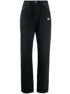 Acne Studios loose fit logo jeans - Black
