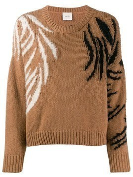 Alysi embroidered detail jumper - Brown