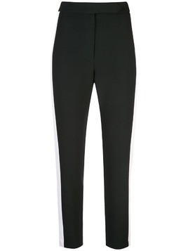 Milly side stripe slim trousers - Black