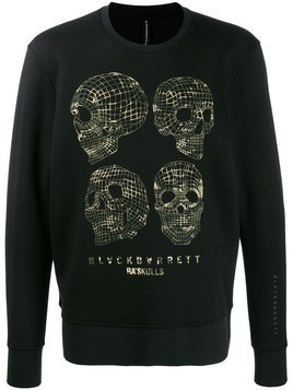 Blackbarrett Wireframe skull sweatshirt
