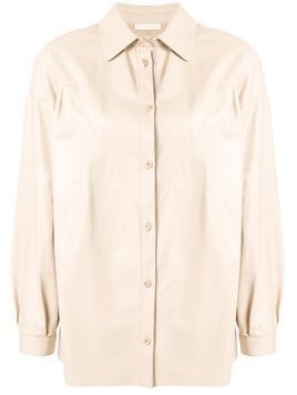 Drome stitched leather blouse - NEUTRALS