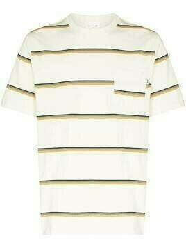 Wood Wood Bobby stripe-pattern T-shirt - White