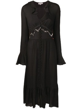 Giacobino bead fringe dress - Black