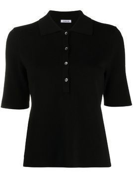 P.A.R.O.S.H. knitted polo top - Black