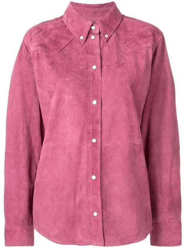 Isabel Marant Étoile suede button down shirt - PURPLE