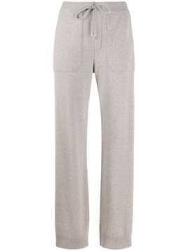Lorena Antoniazzi side-striped track pants - Neutrals