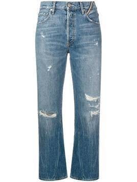 Jean Atelier cropped distressed jeans - Blue