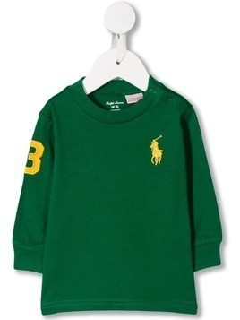 Ralph Lauren Kids logo embroidered sweatshirt - Green