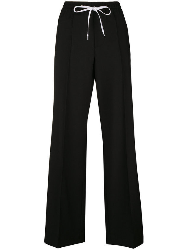 Miu Miu wide leg tracksuit bottoms - Black