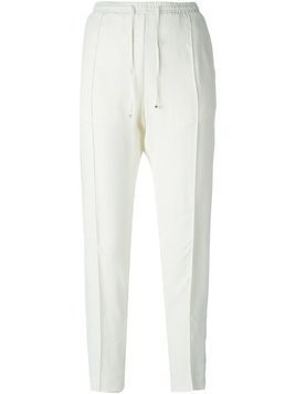 Moncler tapered crepe trousers - White