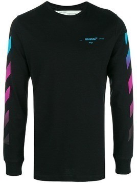 Off-White gradient stripe sweatshirt - Black