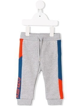Kenzo Kids side logo track pants - Grey