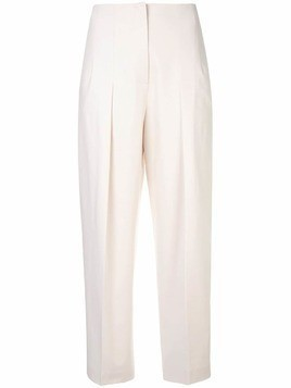 Jil Sander Navy straight-leg tailored trousers - White