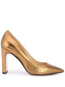 Fabio Rusconi Jon block heel pump - GOLD