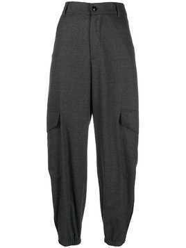Barena high-rise pleated tapered trousers - Grey