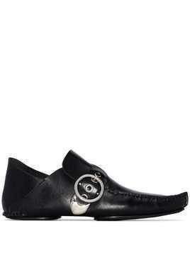 Loewe side-buckle detail loafers - Black